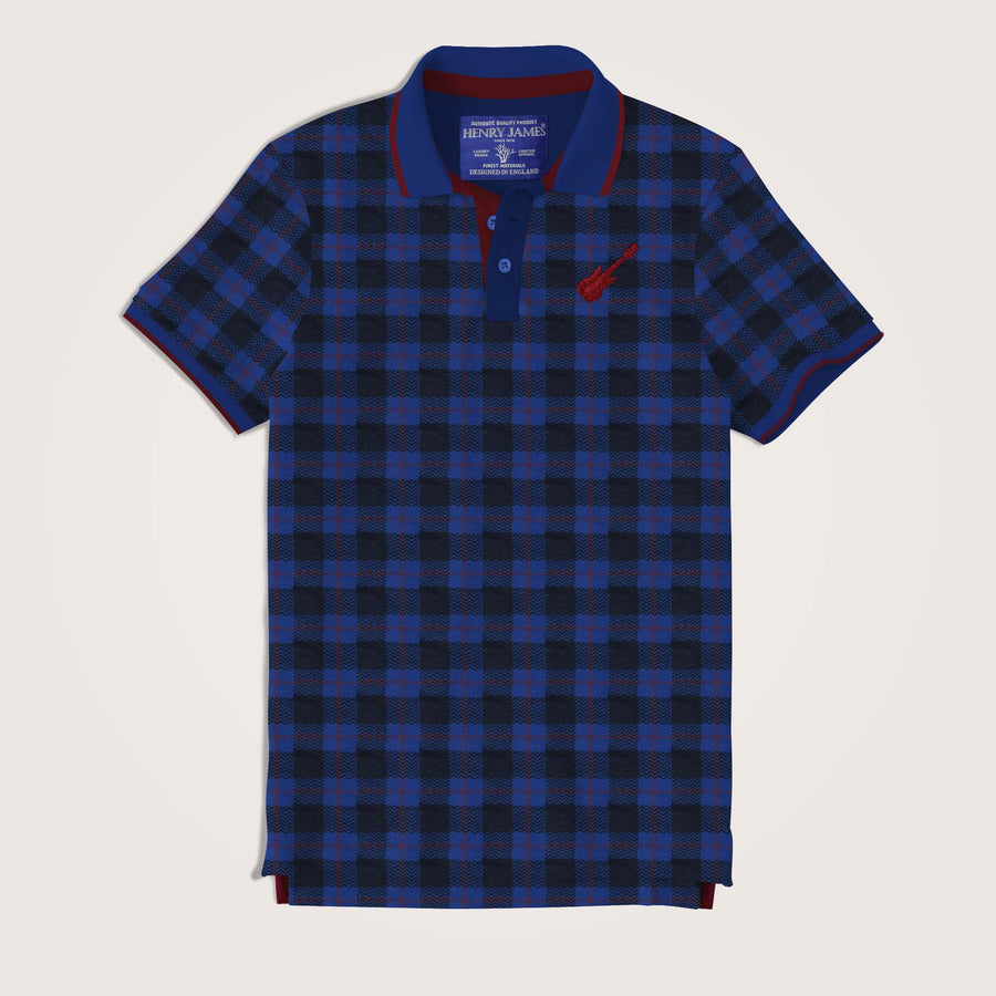 Gonzalo Check Printed Jersey Polo Shirt