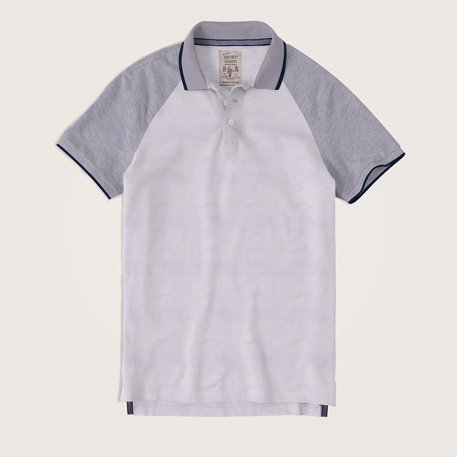 Tomás Raglan Sleeves Double Knit Popcorn Pique  Polo Shirt