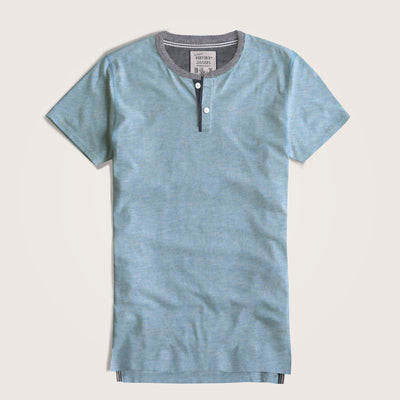 Pedro Contrast neck Shirt Sleeves Henley Shirt - Klashcollection.com