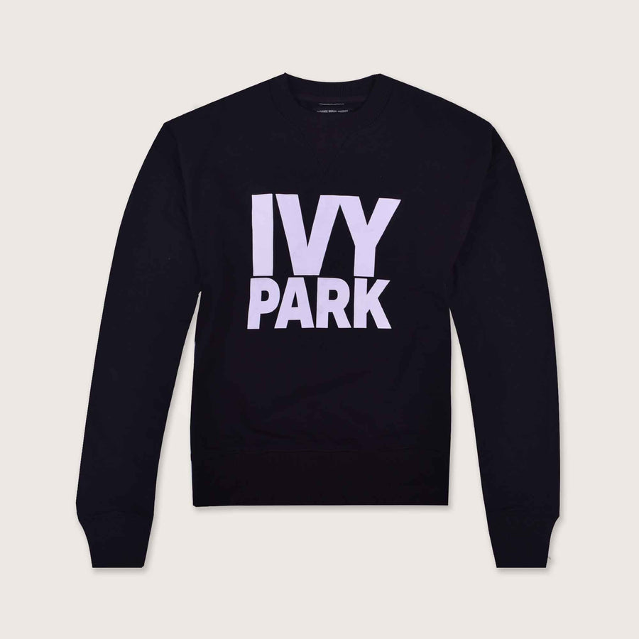 IPark Crew Neck Jet Black Sweat Shirt