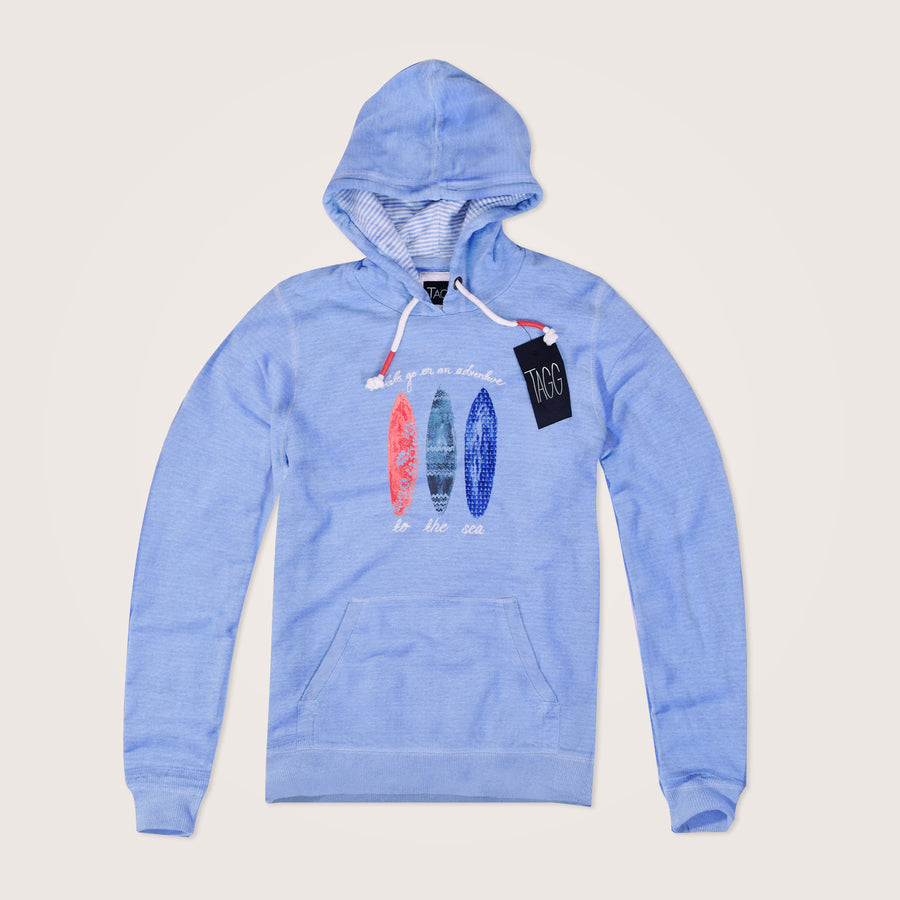 Double Knit Adventure Graphic Pullover Hoodie