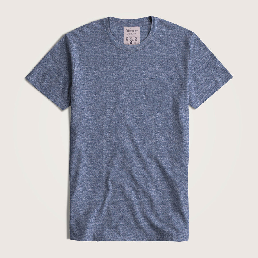 Matthew Short Sleeve Super Soft Crew Neck Pocket Tee, With Raw Edges - Klashcollection.com
