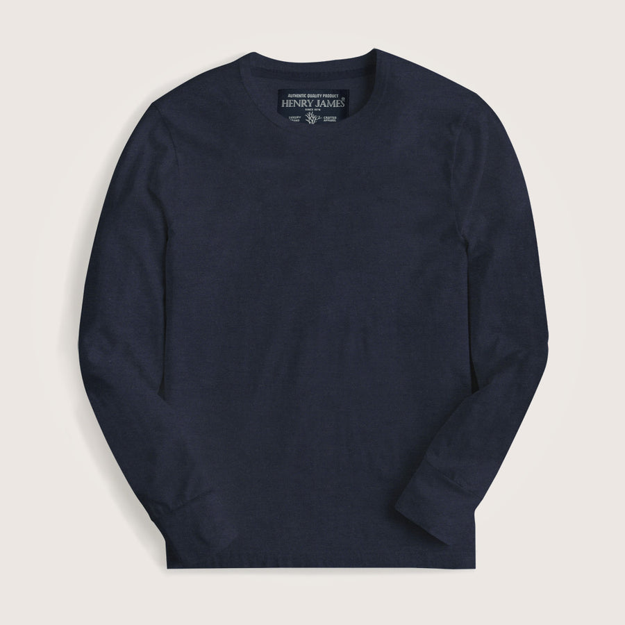Dylan Long Sleeves Crew Neck Basic Tee Shirt