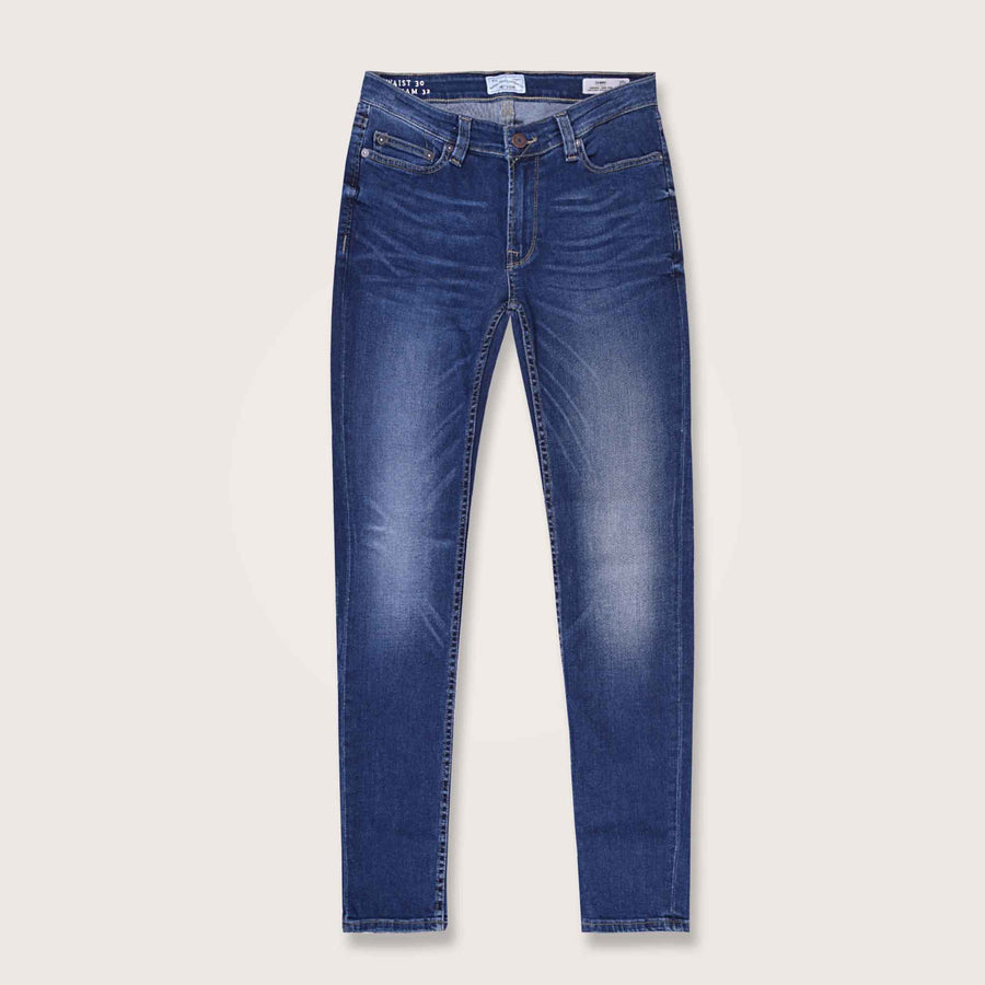 Only & Sons Super Stretch Slim Fit Mid Blue Wash Denim