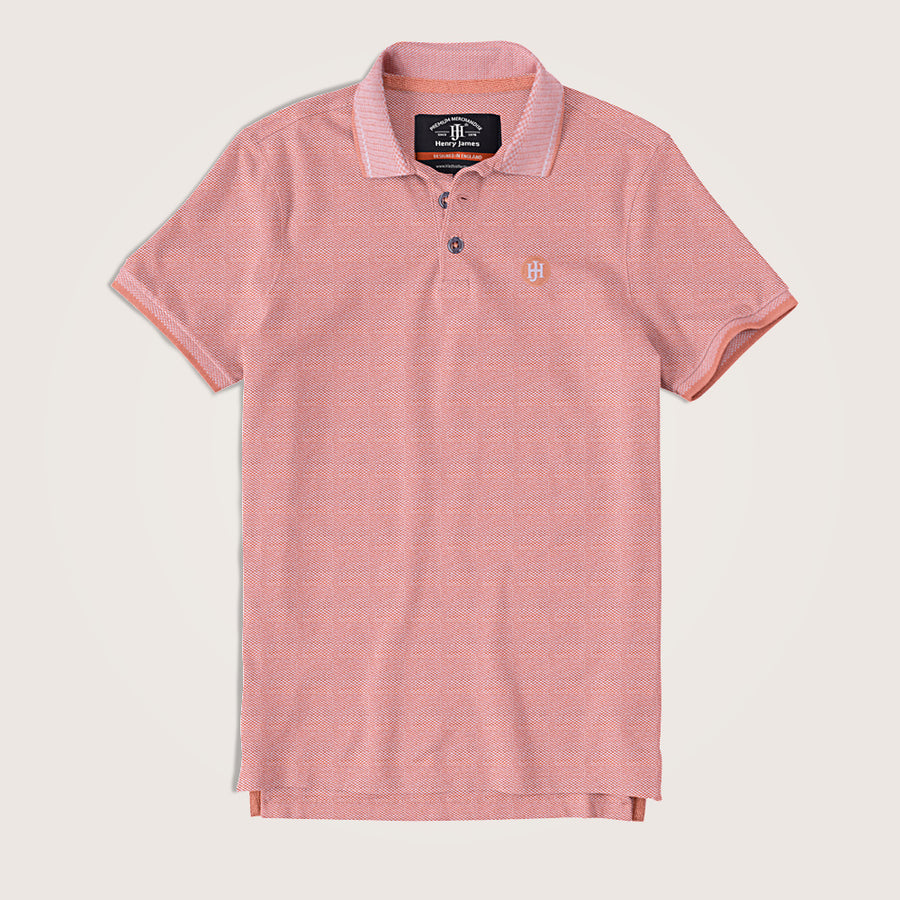 Barnaby Two tone Pique Signature polo Shirt