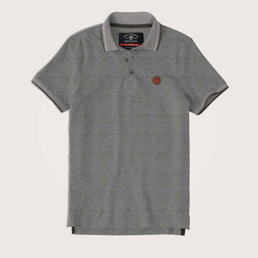 Callum Two tone Pique Signature polo Shirt