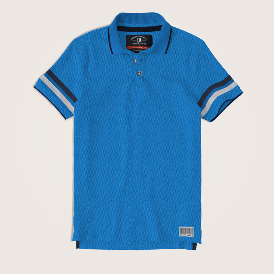 Crispin Short Sleeve Tipped Collar Polo Shirt