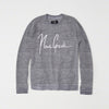 NON GRADE Crew neck Ocean Textured Graphic Sweat