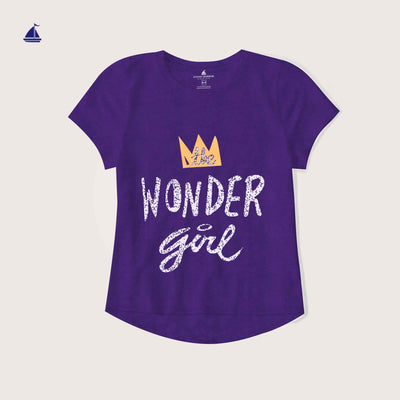 "Rafaella Crew Neck "" Wonder Girl"" Graphic T-Shirt - Klashcollection.com"