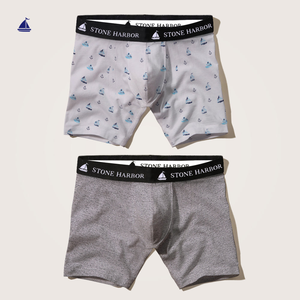 Stone Harbor 2 Pack Juan Pablo Boxer Shorts - Klashcollection.com