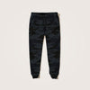 HARRISON allover camo printed Close bottom Jogger