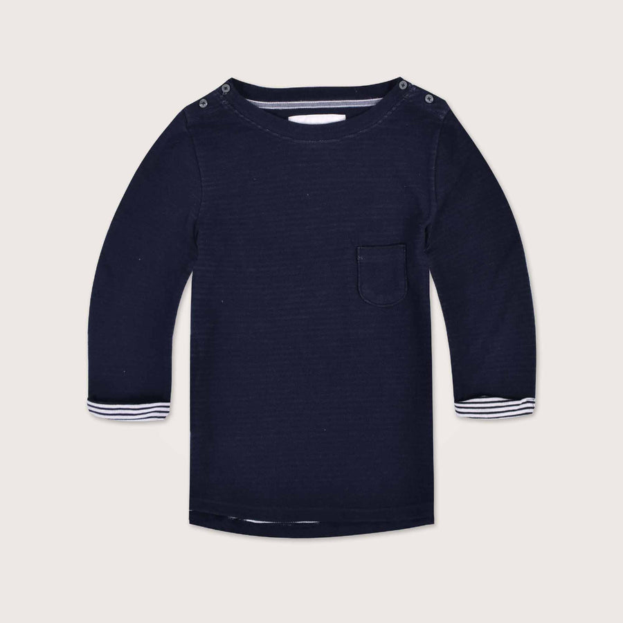 Victoria Quarter Sleeves Double Face Boat Neck Sweat shirt