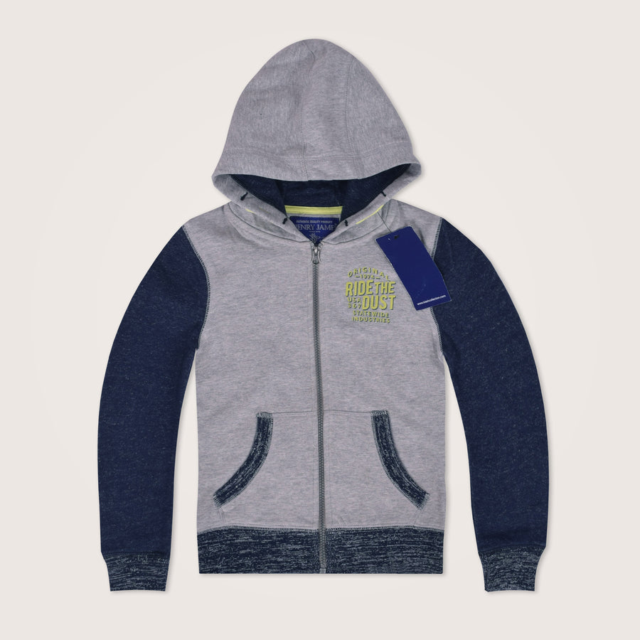 Kids Ride The Dust Original Zip Through Graphic Hoodie