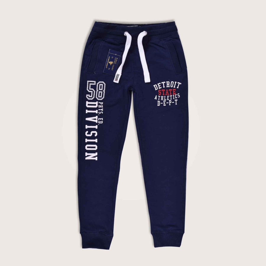 Athletic Detroit State Close Bottom Embellished Jogger