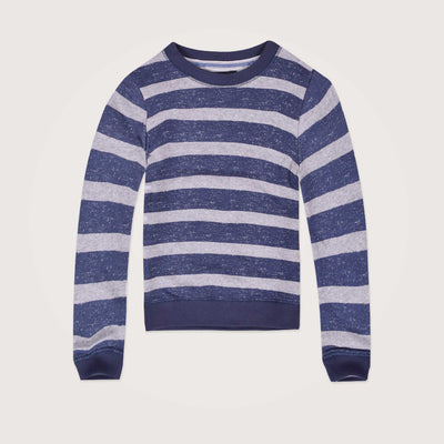 Radius Print Striped Crew Neck Sweatshirt - Klashcollection.com