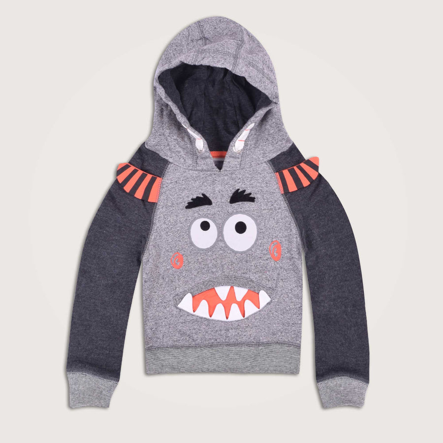 Monster Raglan Sleeves Hoodie