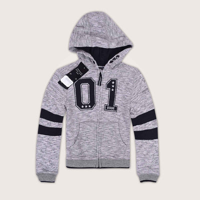 Concordia 01 Dude Textured Embellished Zip Through Hoodie - Klashcollection.com