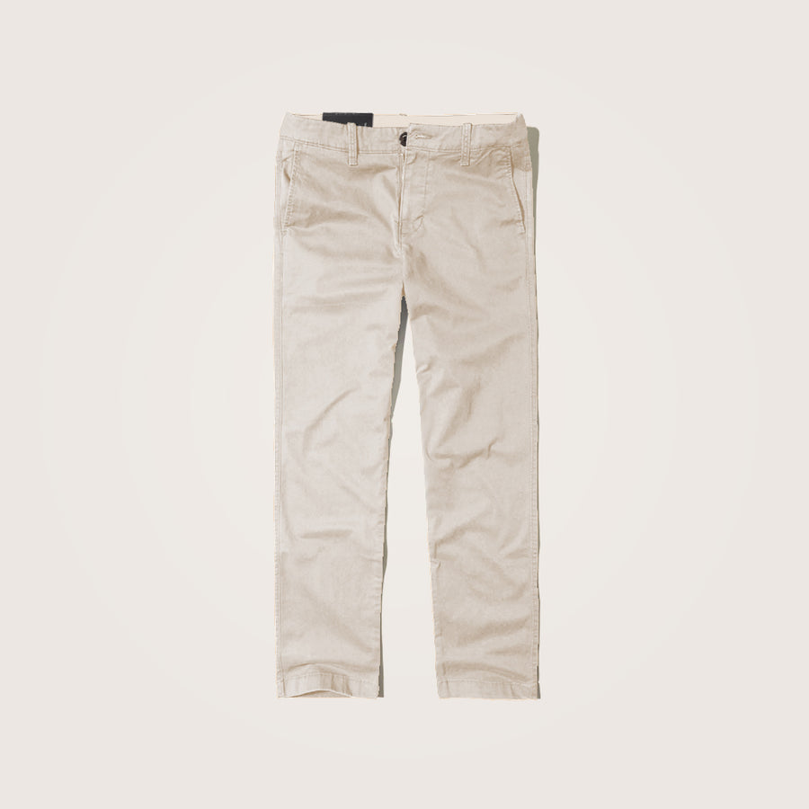 P-Club Offwhite Slim Fit Cotton Stretch pants