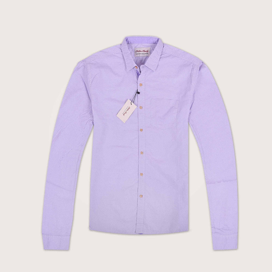 Cotton Candy French Collar Circle Printed Casual Shirt - Klashcollection.com