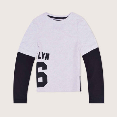 KLYN Double Long Sleeve Crew Neck T-Shirt - Klashcollection.com