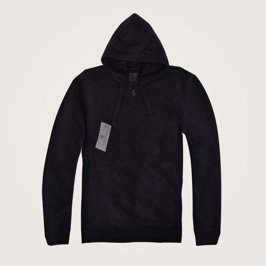 Quilted Heavy Weight Mamba Zip Through Hoodie - Klashcollection.com