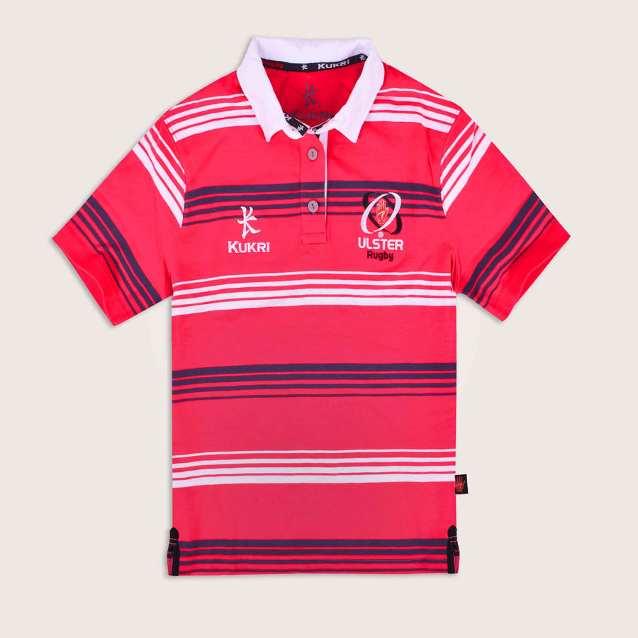 Kukri Ulster Rugby Dyed Yarn Striped Short Sleeve Rugby Shirt - Klashcollection.com