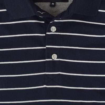 Ethan Ringer Dyed Yarn Striped Polo Shirt