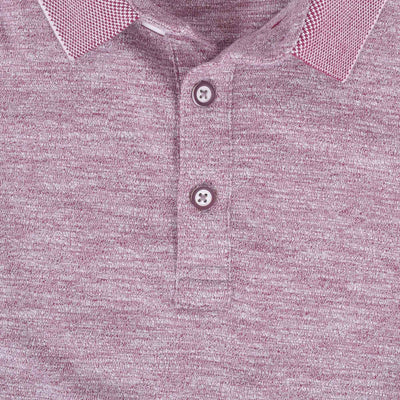Esteban Textured Jacquard Collar Jersey Polo Shirt