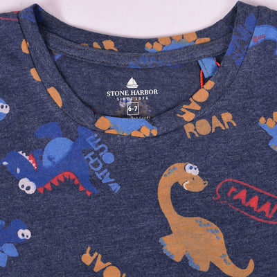 Stone Harbor Axel All over Roar Print T-Shirt - Crossconnections.com.pk