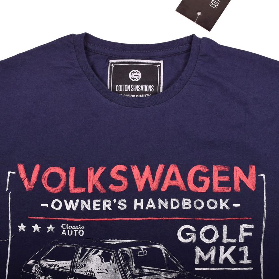 VOLKSWAGEN GOLF MEN`S CREW NECK TEE SHIRT