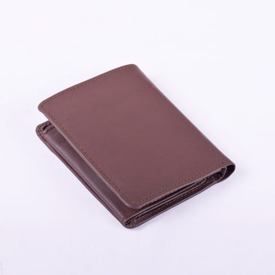 Stone Harbor Brown Compact Mens Leather Wallet - Crossconnections.com.pk
