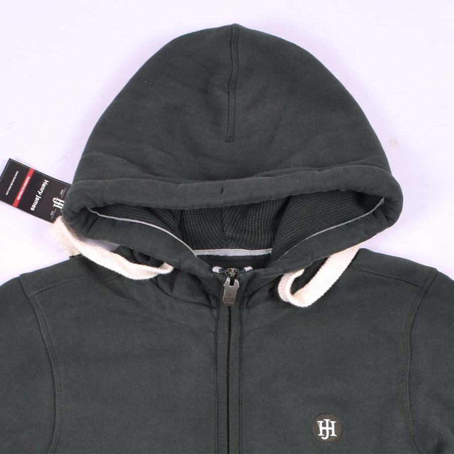 Foresto Heavyweight Signature Zipper Hoodie With Ribbed Panels