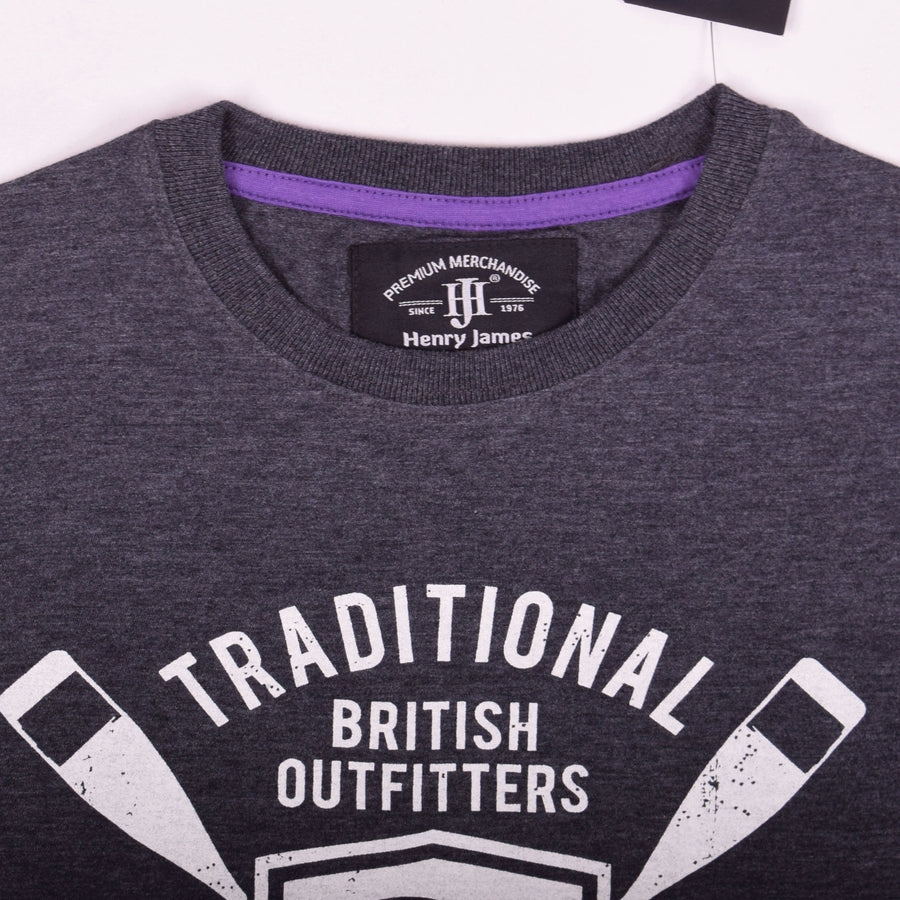 Henry James Traditional British Crew Neck Tee Shirt