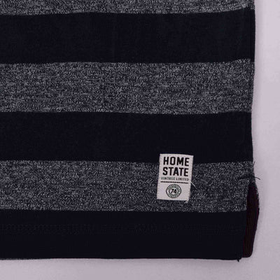 Home State Dyed Yarn Striped  Placket Hoodie