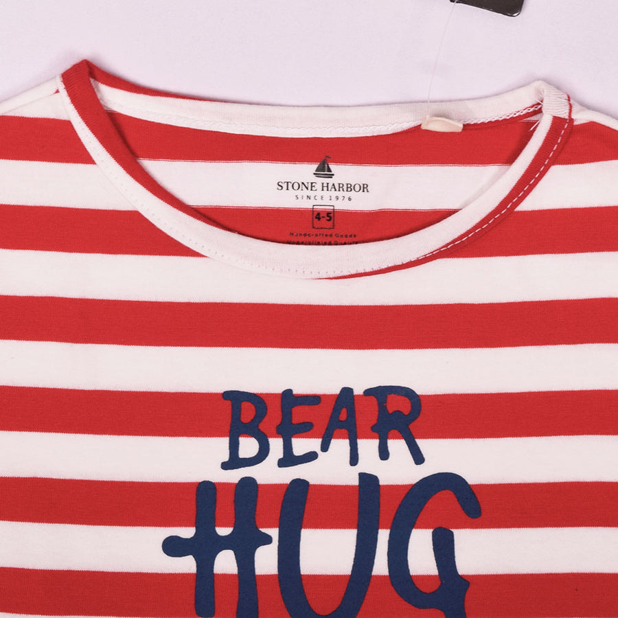 Stone Harbor Bear Hug Crew Neck Tee Shirt