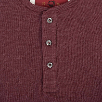 Kiwano Long Sleeve Waffle Henley Shirt - Klashcollection.com