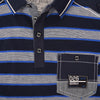 Core Ringer Tipped Collar Stripped Short Sleeve Polo Shirt - Klashcollection.com