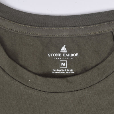 "Stone Harbor Crew Neck ""Somethings"" Graphic T-Shirt - Klashcollection.com"