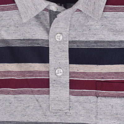 Harrison Birmingham Striped Short Sleeve Pocket Polo Shirt