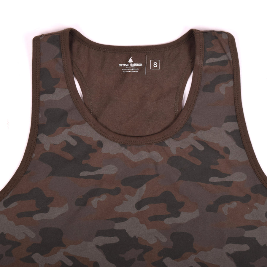 MUST HAVE STONE HARBOR CAMO PRINT GYM VEST