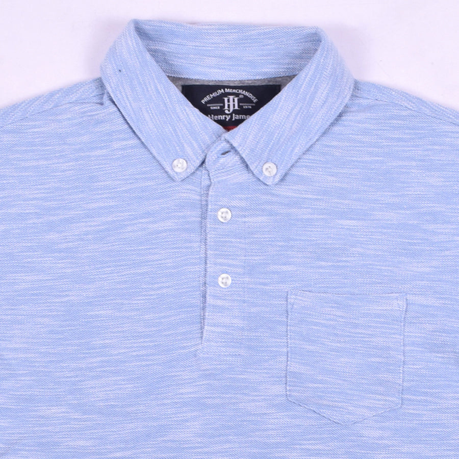 Sammy Button Down Collar pocket polo Shirt