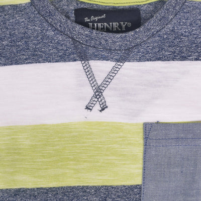 Valentino Dyed Yarn Striped Pocket Tee Shirt - Klashcollection.com