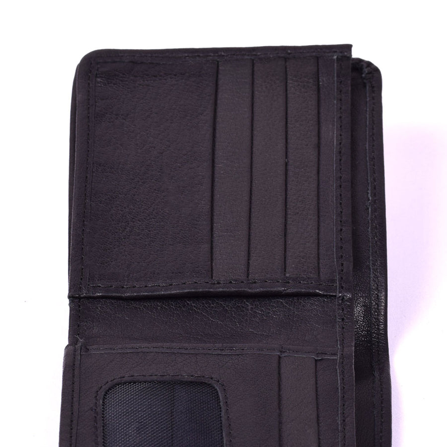 STONE HARBOR Black Doc MENS LEATHER WALLET
