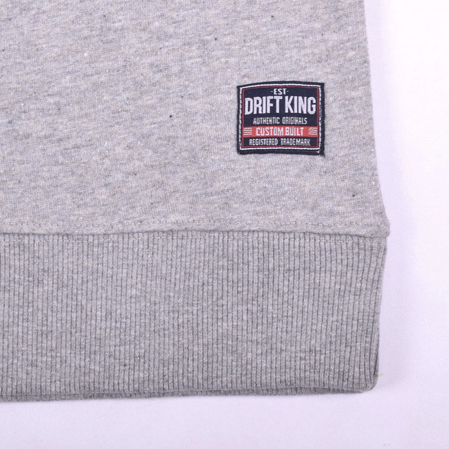 Drift King Heavyweight Crew Neck Embellished Sweatshirt