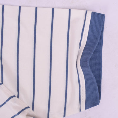 Alfie Ringer Dyed Yarn Striped Polo Shirt