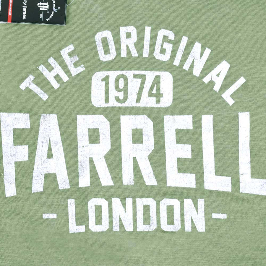 Farrell Slub terry hoodie with Flock Graphic Print
