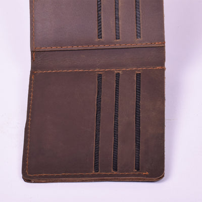 STONE HARBOR SYEBOG BROWN MENS LEATHER WALLET