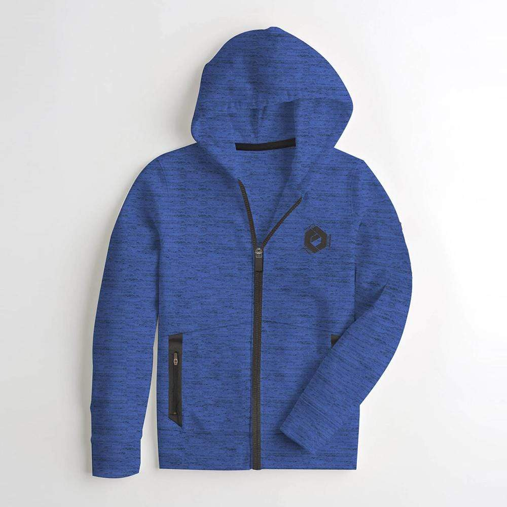cotton sensations Boy's Zipper Hoodie Blue / 2-3 Years Boy's Cotton Sensations GALACTIC Zipper Hoodie