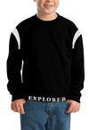 cotton sensations Kid's Sweatshirt Black / 3-4 Years Boy's Cotton Sensations Explorer Crew Neck Sweatshirt