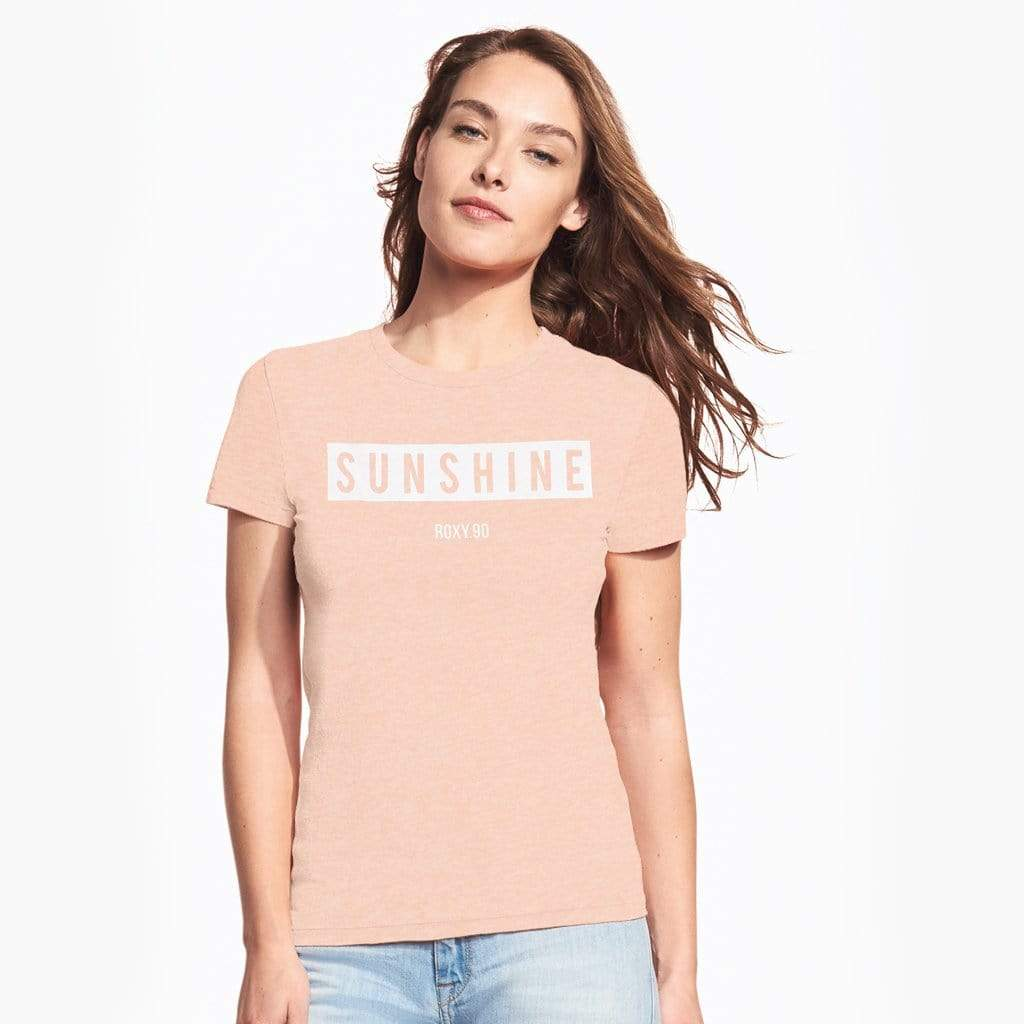 cotton sensations Women T Shirt Peach / XS-8 Cotton Sensations Super Soft SUNSHINE Tee Shirt